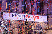 Finale during a rendition of Heroes by Rebecca Ferguson during the Manchester Olympic Parade in Manchester, United Kingdom on 17 October 2016. Photo by Richard Holmes.