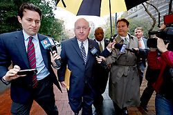25 February 2013. New Orleans, Louisiana,  USA. .Aaron Broussard, former Jefferson parish president arrives for sentencing at the Hale Boggs Federal Courthouse. Broussard was sentenced to 46 months in prison on theft and conspiracy charges..Photo; Charlie Varley.