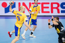 Johan Jakobsson of Sweden during handball match between National teams of Spain and Sweden on Day 6 in Preliminary Round of Men's EHF EURO 2016, on January 20, 2016 in Centennial Hall, Wroclaw, Poland. Photo by Vid Ponikvar / Sportida
