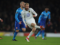 Football - 2017 / 2018 Europa League - Round of Thirty-Two, Second Leg: Arsenal (3) vs. Ostersunds FK (0)<br /> <br /> Curtis Edwards of Ostersunds, at The Emirates.<br /> Previously played with Darlington<br /> <br /> COLORSPORT/ANDREW COWIE