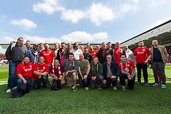 Man v Fat group - Rogan Thomson/JMP - 07/05/2017 - Ashton Gate Stadium - Bristol, England - Bristol City v Birmingham City - Sky Bet Championship.