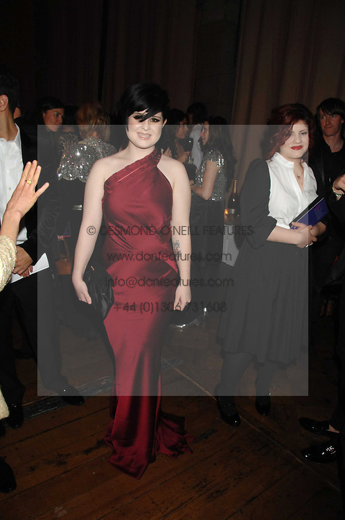 KELLY OSBOURNE at the British Fashion Awards 2007 held at the Royal Horticultural Halls, Vincent Square, London on 28th November 2007.<br /><br />NON EXCLUSIVE - WORLD RIGHTS