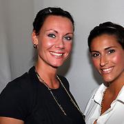 NLD/Amsterdam/20070725 - Modeshow Judith Osborn tijdens de Amsterdam Fashionweek 2007, Kris Bozilovic en vriendin Jennifer van der Valk