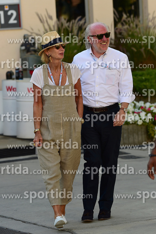 03.04.2016, International Circuit, Sakhir, BHR, FIA, Formel 1, Grand Prix von Bahrain, Rennen, im Bild David Richards (GBR) Prodrive and his wife Karen Richards (GBR) // during Race for the FIA Formula One Grand Prix of Bahrain at the International Circuit in Sakhir, Bahrain on 2016/04/03. EXPA Pictures &copy; 2016, PhotoCredit: EXPA/ Sutton Images<br /> <br /> *****ATTENTION - for AUT, SLO, CRO, SRB, BIH, MAZ only*****