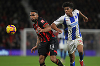 Football - 2018 / 2019 Premier League - AFC Bournemouth vs. Brighton & Hove Albion<br /> <br /> Bernardo of Brighton is held off by Bournemouth's Callum Wilson at the Vitality Stadium (Dean Court) Bournemouth <br /> <br /> COLORSPORT/SHAUN BOGGUST