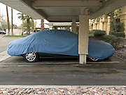 parked covered up car