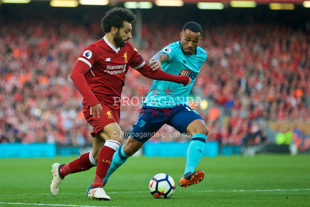 LIVERPOOL, ENGLAND - Saturday, April 14, 2018: Liverpool's Mohamed Salah during the FA Premier League match between Liverpool FC and AFC Bournemouth at Anfield. (Pic by Laura Malkin/Propaganda)