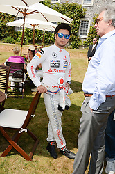 F1 driver SERGIO PEREZ at the Cartier 'Style et Luxe' part of the Goodwood Festival of Speed, Goodwood House, West Sussex on 14th July 2013.