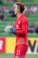 MELBOURNE, VIC - MARCH 05: Jo Hyeonwoo (21) of Daegu FC shouts to teammates during the AFC Champions League soccer match between Melbourne Victory and Daegu FC on March 05, 2019 at AAMI Park, VIC. (Photo by Speed Media/Icon Sportswire)