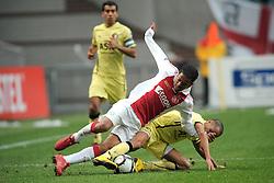 25-04-2010 VOETBAL: AJAX - FEYENOORD: AMSTERDAM<br /> De eerste wedstrijd in de bekerfinale is gewonnen door Ajax met 2-0 / Urby Emanuelson en Karim El Ahmadi<br /> ©2010-WWW.FOTOHOOGENDOORN.NL