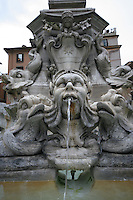Fountain at the Piazza Della Rotondain Rome Italy