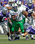 Marshall running back Ahmad Bradwhaw (44) brakes up the middle against Kansas State at Bill Snyder Family Stadium in Manhattan, Kansas, September 16, 2006.  The Wildcats beat the Thundering Herd 23-7.