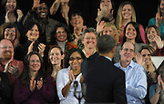 US President Barack Obama waves to educators after he speaks at the City of Decatur Recreation Center in Decatur, Georgia, USA, 14 February 2013. Obama was promoting the proposals mentioned in his State of Union speech, including preschool education.