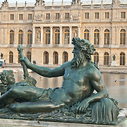 Statue in the garden at Palace of Versailles