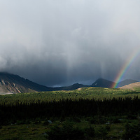 Rainbow. Tonquin Valley. Jasper National Park, Alberta, Canada.