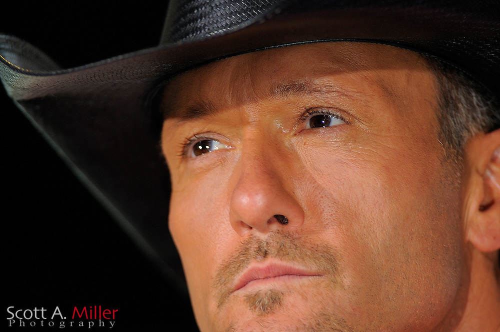 Tim McGraw during the 'Brothers of the Sun' Tour Kick-Off press conference on Friday June 1, 2012 in Tampa, Fla. McGraw and fellow country singer Kenny Chesney will kick off their joint tour on June 2, 2012 in Tampa, Fla. ©2012 Scott A. Miller