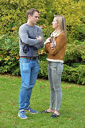 Angus Lennox and Alexandra Wyer at Young Guns raising money for the fight against breast cancer trough Cancer Research UK held at EJ Churchill Shooting School followed by lunch at West Wycombe Park, England. 23 September 2017.