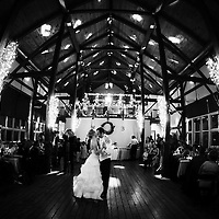 A first dance photo from Becca and Andy's Illinois wedding at Byron Colby Barn in Grayslake, Illinois.