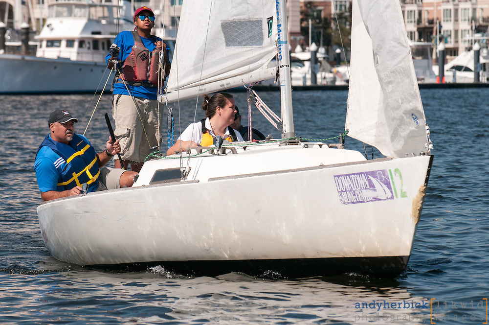 SEPTEMBER 21, 2012 - Baltimore, MD, USA - The 19th Annual RCM&D Regatta, a fundraiser for local non-profit charities, was held on Friday, September 21, 2012 on the waters of Baltimore's Inner Harbor with lunch and the after party at the Downtown Sailing Center. - IMAGE © Andy Herbick 2012   www.andyherbickphotography.com - ALL RIGHTS RESERVED.