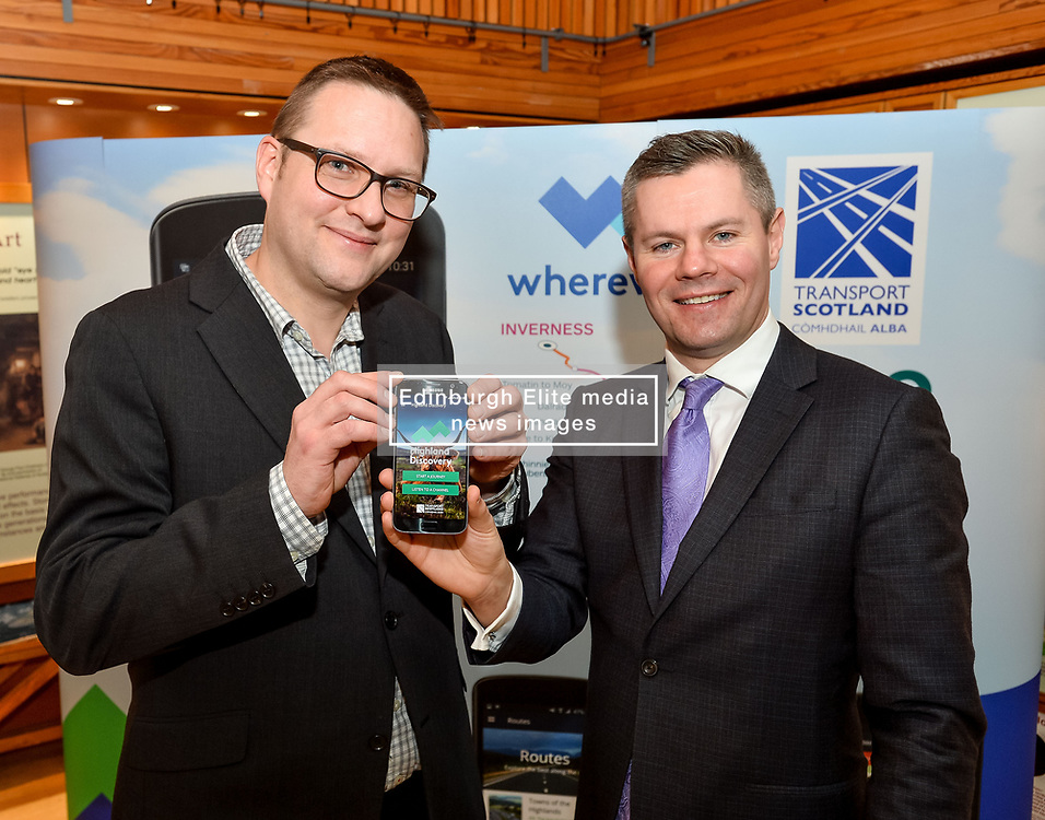 Finance Secretary Derek MacKay MSP launched the brand new A9 app with app developer Iain McNeill, which allows visitors to see the culture and history surrounding Scotland's iconic route to the Highlands.<br />