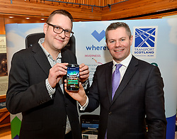 Finance Secretary Derek MacKay MSP launched the brand new A9 app with app developer Iain McNeill, which allows visitors to see the culture and history surrounding Scotland's iconic route to the Highlands.<br /> <br /> © Dave Johnston / EEm