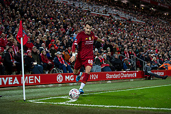 LIVERPOOL, ENGLAND - Sunday, January 5, 2020: Liverpool's Pedro Chirivella takes a corner-kick during the FA Cup 3rd Round match between Liverpool FC and Everton FC, the 235th Merseyside Derby, at Anfield. (Pic by David Rawcliffe/Propaganda)