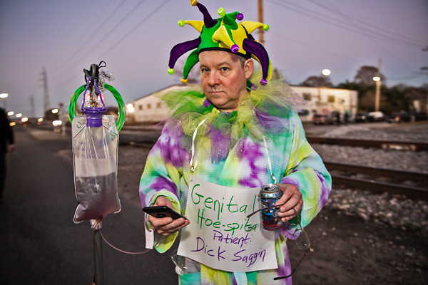 Health care parody   in the Krewe du Vieux, a Mardi Gras Parade in New Orleans know for its raunchy satire.
