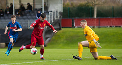 LIVERPOOL, ENGLAND - Monday, February 24, 2020: Liverpool's Joe Hardy during the Premier League Cup Group F match between Liverpool FC Under-23's and AFC Sunderland Under-23's at the Liverpool Academy. (Pic by David Rawcliffe/Propaganda)