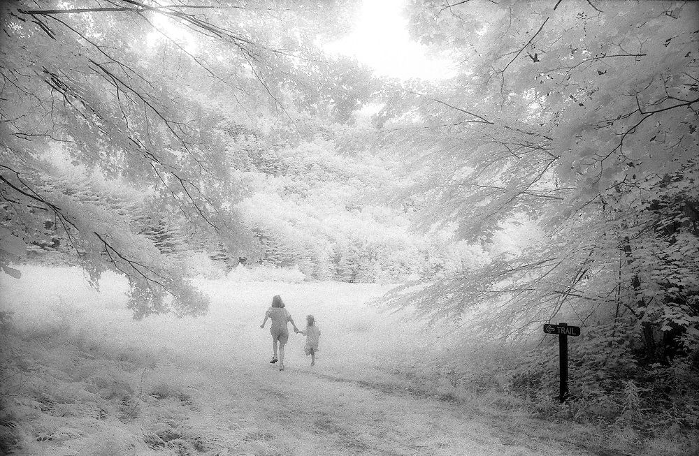 Kateri and Caroline at Mohawk State Park, Infrared Film