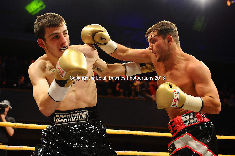 Dale Evans defeats Sam Eggington in Quarter Final Two at Welterweights 111, Civic Hall Wolverhampton. on the 19th January 2013. Matchroom Sport/ Prizefighter © Leigh Dawney 2013