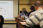November 11, 2013 - New York, NY. Students take notes during a lecture about the solar system. They're members of the Amateur Astronomers Association of New York. 11/11/2013 Photograph by Kathleen Caulderwood/NYCity Photo Wire.