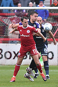 Accrington Stanley's Sean McConville(11)  during the EFL Sky Bet League 2 match between Accrington Stanley and Luton Town at the Fraser Eagle Stadium, Accrington, England on 7 October 2017. Photo by Mark Pollitt.