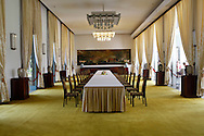 The  State Dining Room<br /> The Presidential Palace in Saigon.  <br /> <br />  photo by Dennis Brack