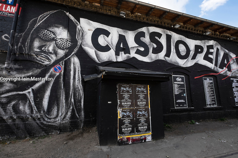 "Cassiopeia nightclub in Urban Spree bohemian culture district on ""Clubbing Mile "" on Revaler Street in Friedrichshain in Berlin Germany"