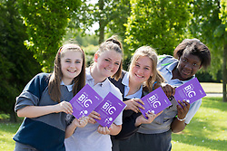 Little Big Imaginations @ ITB<br /> Kerrie Manning (12), Corduff, Megan Carey (12), Sheephill Avenue, Aoife Keelihan (12), Corduff Green and Adetorin Oyinloye (12), Tyrrelstown are pictured as ITB welcomed 67 sixth class students from St Patricks Senior National School where they showcased their short stories in collaboration with the ITB Creative Digital Media (CDM) Second Year Visual Communications Students.<br /> www.itb.ie<br /> <br /> <br /> For further information please contact Ann-Marie Sheehan, Aspire PR, T : 0872985569 E : annmarie@aspire-pr.com