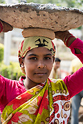 Woman laborer in Gurgaon, India.