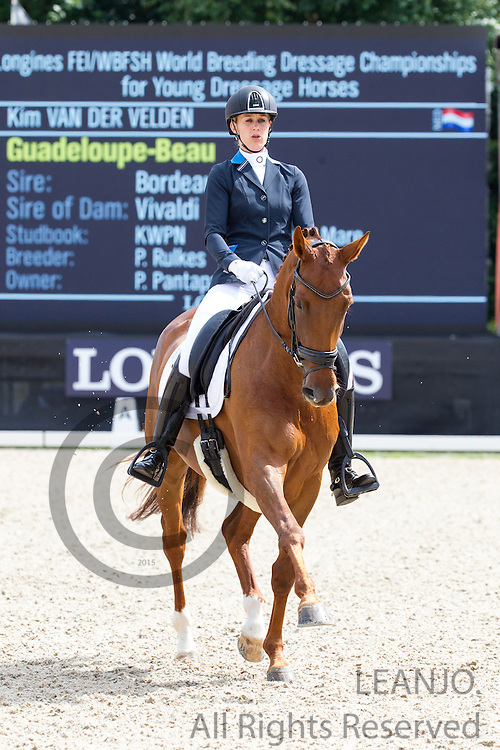 Kim van der Velden - Guadeloupe Beau<br /> Longines FEI/WBFSH World Breeding Dressage Championships for Young Horses 2016<br /> &copy; DigiShots