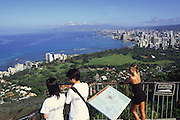 Diamond Head Lookout, Waikiki, Oahu, Hawaii<br />