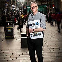 Picture by Christian Cooksey/CookseyPix.com.<br /> <br /> Free handout from The Big Partnership. Pictured on Buchanan Street in Glasgow is Richard Walker, the editor of the new newspaper The National. Mr Walker is shown holding a mock up copy of the paper's front page.<br /> For further information and press release contact Candy Watermeyer, The Big Partnership. 0141 333 9585