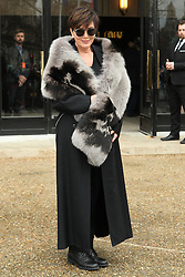 Kris Jenner arrives at the Miu Miu show as part of the Paris Fashion Week Womenswear Fall, Winter 2016, 2017 on March 9, 2016 in Paris, France. EXPA Pictures &copy; 2016, PhotoCredit: EXPA/ Photoshot/ Zenon Stefaniak<br /> <br /> *****ATTENTION - for AUT, SLO, CRO, SRB, BIH, MAZ, SUI only*****