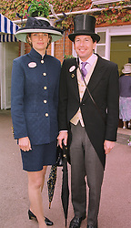 MR JOHN & LADY CAROLYN WARREN, she is the daughter of the Earl of Carnarvon, at Royal Ascot on 16th June 1998.MIL 99