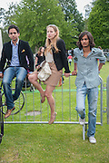 SHOAIB CHAUDALY; LAUREN CONWALL; HAMZA MAWAZ, Cartier Queen's Cup. Guards Polo Club, Windsor Great Park. 17 June 2012