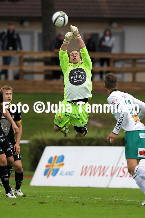 2.9.2012, Wiklof Holding Arena, Mariehamn / Maarianhamina..Veikkausliiga 2012..IFK Mariehamn - Kuopion Palloseura..Joonas P?ntinen - KuPS