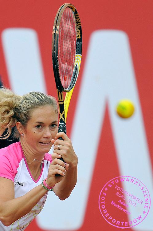 KLARA ZAKOPALOVA (CZECH REPUBLIC) PLAYS TENNIS DURING INTERNATIONAL WOMEN TENNIS TOURNAMENT WTA POLSAT WARSAW OPEN AT LEGIA'S COURTS IN WARSAW, POLAND...WARSAW , POLAND , MAY 18, 2010..( PHOTO BY ADAM NURKIEWICZ / MEDIASPORT )..PICTURE ALSO AVAIBLE IN RAW OR TIFF FORMAT ON SPECIAL REQUEST.