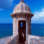 Garita at El Morro fort.San Juan, Puerto Rico
