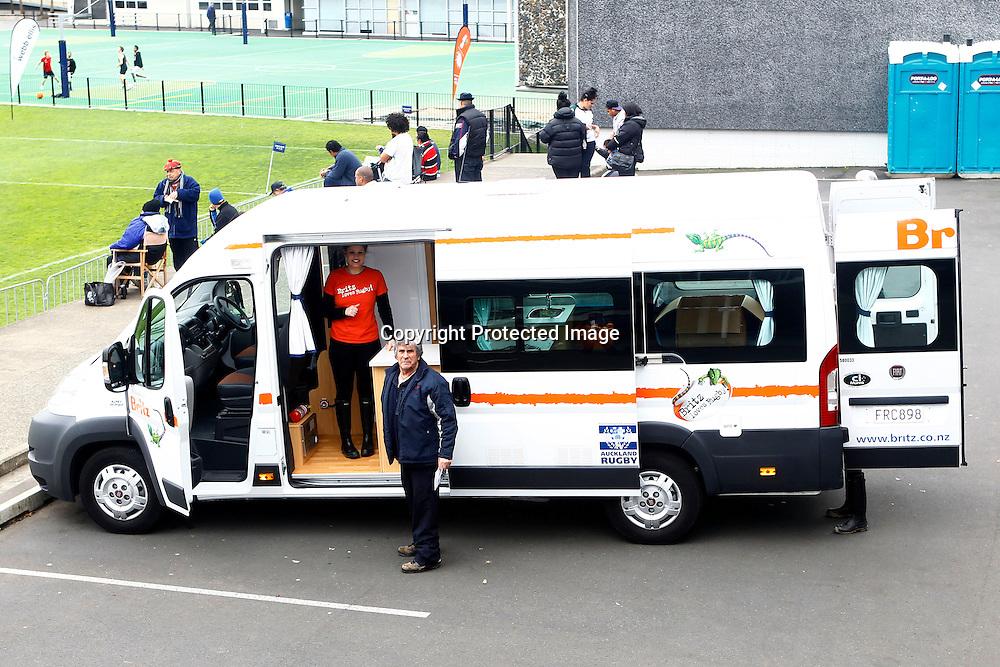 Britz Camper Van during the Auckland Club Rugby Grand Final - Ponsonby v Grammar Carlton, Auckland Grammar, Auckland, New Zealand. Saturday 13 August 2011. Photo: Ella Brockelsby / photosport.co.nz