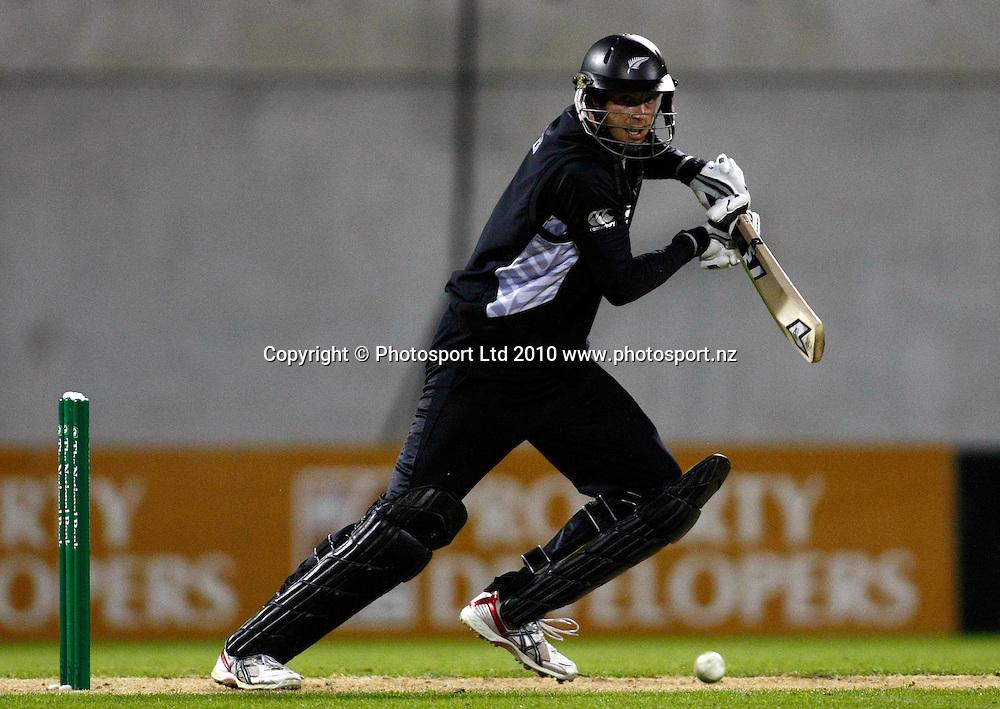 Ian Butler bats. International One Day Cricket, New Zealand Blackcaps v Bangladesh, AMI Stadium, Christchurch, New Zealand. Thursday 11 February 2010. Photo: Simon Watts/PHOTOSPORT