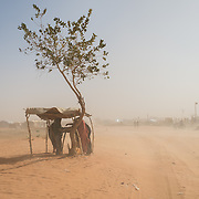 A sandstorm beginning at the Mbera camp for Malian refugees in Mauritania on 11 March 2013.