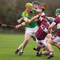 Broadford's Eoin Donnellan is tackled by St Joseph's Doora-Barefield's Caimin O'Connor, David Conroy and Declan Meehan