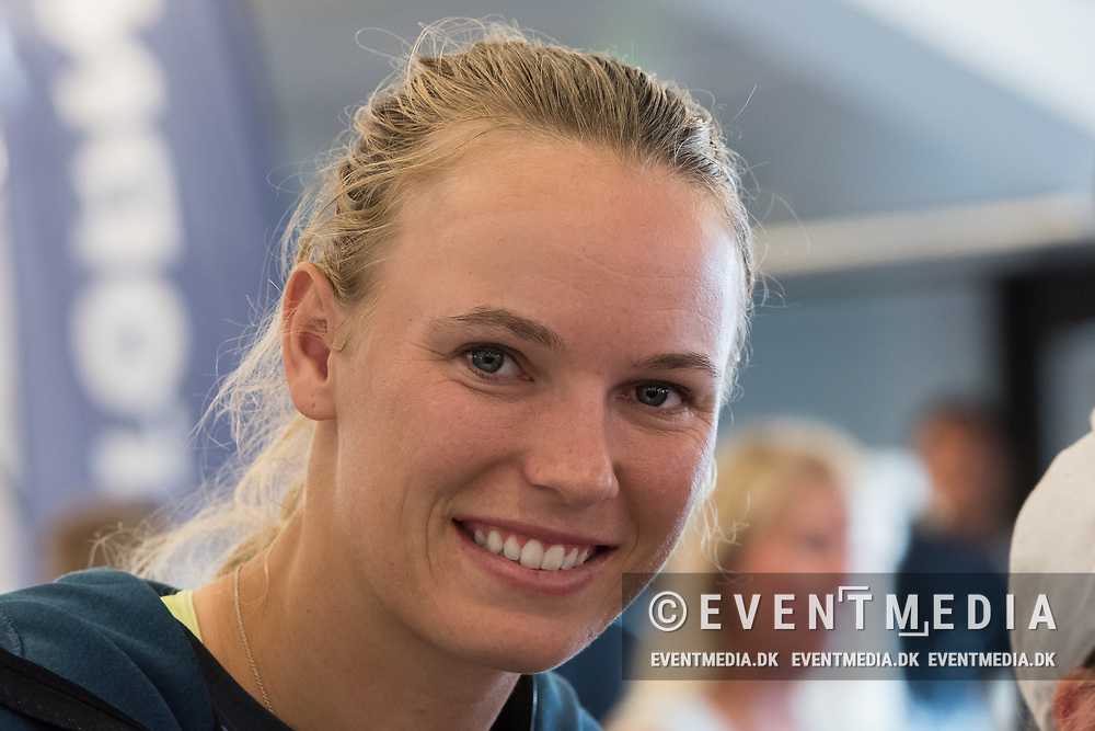 Caroline Wozniacki (Denmark) during an autograph session at the 2017 WTA Ericsson Open in Båstad, Sweden, July 26, 2017. Photo Credit: Katja Boll/EVENTMEDIA.